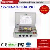 CCTV 사진기를 위한 12V 10A18CH 산출 엇바꾸기 전력 공급