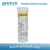 25-500mg/L liberan el papel de prueba de la clorina (LH1008)