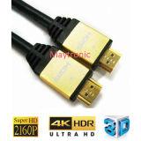 이더네트를 가진 남성 2.0/4K HDMI 케이블에 고속 남성