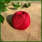 Filato tinto fibra 100% della iuta (rosso)