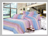 Cama king-size New Style Tecido de cetim Flower Poly / Cotton Bedding Set / Linen / Sheet / Pillow