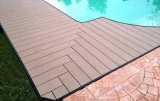 Decking composto do HDPE do Decking do revestimento ao ar livre de WPC