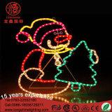 Rotwild-Schneemann-Seil-Neonlicht-Weihnachtslichter LED-IP65 1m gelbe für X'mas Decororation