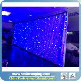 Bunter 3*8m RGB Tricolor Stern-Vorhang mit Cer