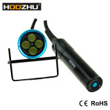 Hoozhu Hu33 잠수 램프 4000 루멘 최고 밝은 양철통 잠수 토치