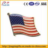 Emblema personalizado do emblema do pino da lapela do metal da forma nacional da bandeira