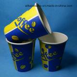 Taza de papel desechable caliente con tapas