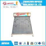 Calentador de agua solar no presurizado del tubo de vacío de la venta caliente