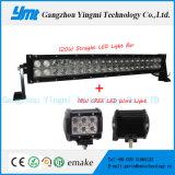구부려진 LED 120W 가벼운 Bar+ 18W 안개 모는 일 빛