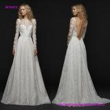 Платье венчания шнурка длинней втулки полное с обнажённым  Низкое открытое назад