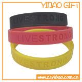 Gute Qualitätsumweltfreundliches Silikon-dünne Armbänder für fördernde Felder (YB-w-024)