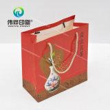 Bolsa de impressão de papel Craft conveniente para presente, laminado mate, corda de poliéster
