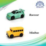 A tração do carro do brinquedo do tanque do caminhão das crianças indutivas da mini pena mágica do caminhão dos veículos da engenharia alinha o carro do caminho de ferro da indução