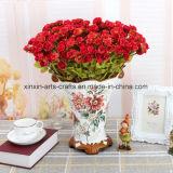 18 gambi con 54 fiori decorativi del mini della Rosa delle teste mazzo di seta del fiore artificiale