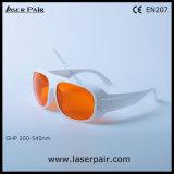 Einfacher Typ von 266nm, 355nm, 515nm, Lasersicherheits-Schutzbrillen des Laser-532nm Schutz-Eyewear/für Excimer 200-540nm/ultraviolette grüne Laser mit Frame52