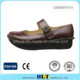 Handgemachte China-beiläufige Klotz-Frauen-Großhandelsschuhe
