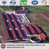 As aves domésticas quentes chinesas da construção de aço da Pre-Engenharia armazenam com os certificados do ISO do Ce