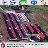 As aves domésticas pré-fabricadas quentes chinesas da construção de aço do certificado do ISO armazenam