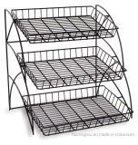 Tabletop стеллаж для выставки товаров Shelving провода змейки металла 3-Tiered магазина розничной торговли