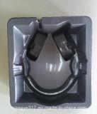 Silbernes Kopfhörer-Blasen-Tellersegment