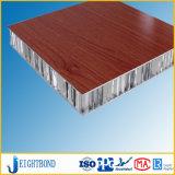 painel de alumínio do favo de mel da grão da madeira de 20mm para o painel de parede