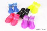 品質によってカスタマイズされる防水犬の雨靴PVC小さいペット靴