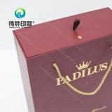 Eindeutiges fantastisches Papierdrucken-Wein-Geschenk-Getränk-verpackenkasten (mit dem heißen Stempeln)