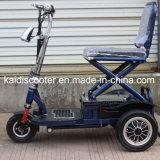 証明されるスマートなFoldable 3つの車輪の電気スクーターのセリウム