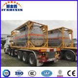 Acero de carbón del estándar de ISO envase líquido químico ácido del tanque del ácido clorhídrico de los 20FT o de los 40FT