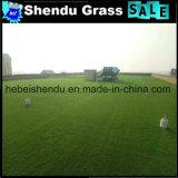 grama artificial da paisagem de 25mm com fio 8+8