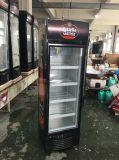refrigerador vertical del caso de demostración de la puerta de cristal 235L