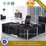 검은 호두나무 색깔 L 모양 책상 사무실 테이블 (HX-G0301)