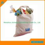 Economia Natural Promocional Logotipo Personalizado Bolsas de algodão impressas