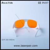 315-540nm Dirm Lb5/266nm, 355nm, 405nm, gafas de seguridad de laser 532nm para el excímero, ultravioleta, lasers verdes con el marco blanco 52