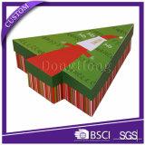 Rectángulos de regalo de papel reciclados diseño adornados únicos de la Navidad