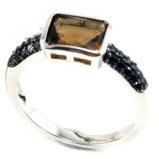 方法宝石類925の純銀製の宝石類CZは鳴らす一義的なデザイン銀のリング(R10123)を