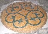 Mattonelle di pavimento del mosaico, medaglione rotondo del mosaico del marmo del reticolo per il disegno del pavimento