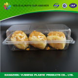 Caisse d'emballage d'ampoule de boulangerie de gâteau, conteneur en plastique de gâteau