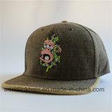 A roupa de cama Snapback Hat com fivela de metal em relevo de Ouro