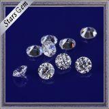 Zirconia cubico di stella del taglio delle pietre rotonde bianche meravigliose di colore 3mm CZ per la fabbricazione dei monili