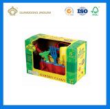 Rectángulo de regalo de empaquetado de papel del rectángulo 2017 para los juguetes (rectángulo acanalado del teléfono del juguete de la ventana del PVC)