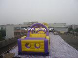 Kommerzieller im Freien Kind-Plättchen-Vergnügungspark-aufblasbarer Hindernis-Kurs