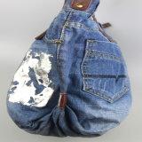 Bolsas lavadas das calças de brim, saco do algodão, sacos do lazer para o acessório de forma das mulheres