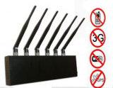 6 antenne haute puissance Bluetooth GPS Mobile Jammer pour l'utilisation mondiale