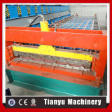 Rolo de aço da folha de metal da telha de telhado do zinco da cor trapezoidalmente que dá forma à máquina