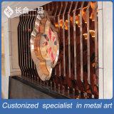 Parete divisoria decorativa interna di qualità superiore personalizzata dello schermo dell'acciaio inossidabile/