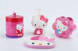Hand Paint Hello Kitty Licensed Polyresin Acessório de banheiro