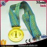 medaglia in bianco di sport poco costosi del bronzo dell'argento dell'oro di formato di 65mm