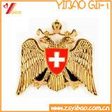 高品質のめっきの金の/Silverのカスタムバッジ(YB-SM-51)