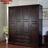 白4のドアの衣類の戸棚の収納キャビネットのワードローブの家具(GSP17-021)